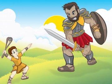 David y Goliat - La pelea de David con Goliat.
