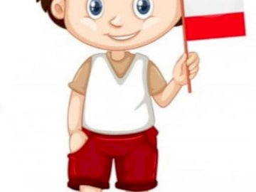 Io sono polacco - Puzzle raffigurante un piccolo palo :). Una stretta di un giocattolo.