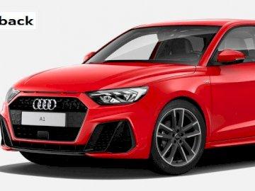 Test 2020 - Une voiture rouge garée dans un parking.