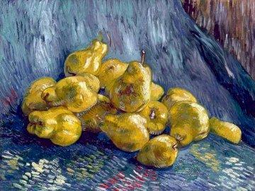 martwa natura - Vincent van Gogh. Martwa natura z gruszkami.