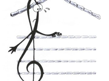treble clef - Treble clef - Music. A drawing of a bicycle.