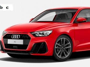 Audi A Sp - Bonjour je suis une voiture. Une voiture rouge garée dans un parking.