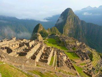 Machu Picchu - Krajobraz Peru, Inca, puzzle do gry. Widok Machu Picchu. qwertzuio asdfghjghut. Widok Machu Picchu.