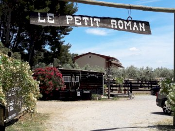 Sebastian - Le PETIT ROMAN ranch in Maussane les Alpilles. Horse riding, Equestrian pension, Dressage. A sign on