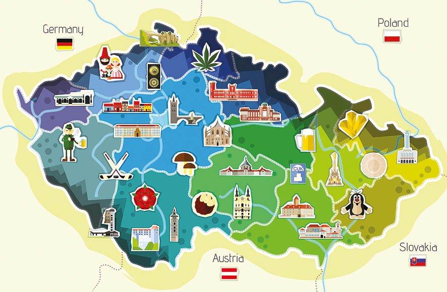 Χάρτης της Τσεχικής Δημοκρατίας