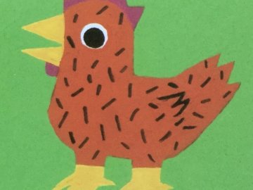 The hen - 9-piece red hen puzzle.