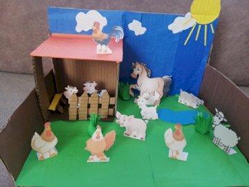 Model of Szymon's rural yard - Make a model of a country yard.