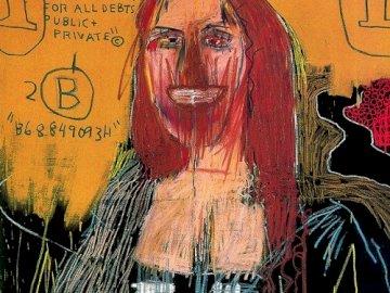 Mona Lisa - Jeden z najdroższych obrazów świata. Graffiti na ścianie.