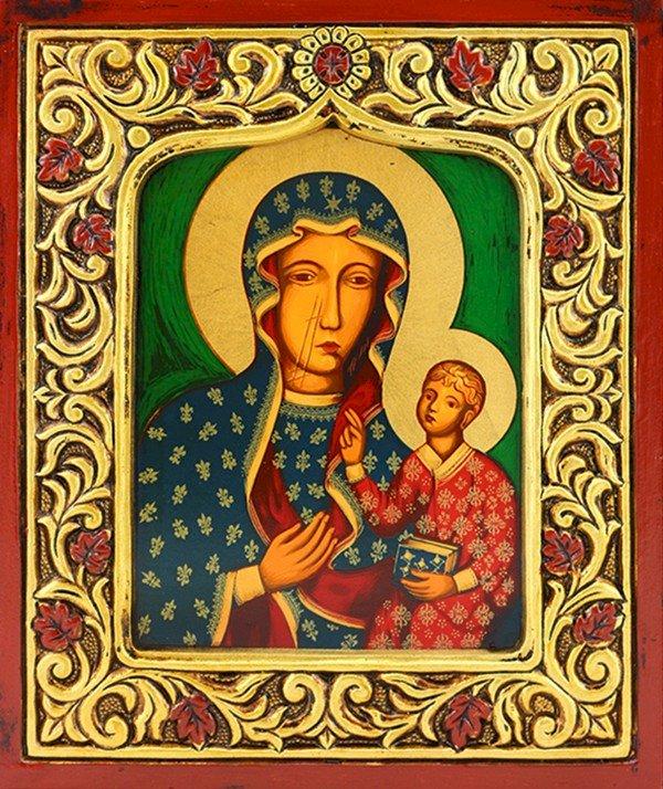 Reine de Pologne - Sainte-Marie - Des puzzles représentent la Vierge Marie en tant que reine de Pologne (3×2)