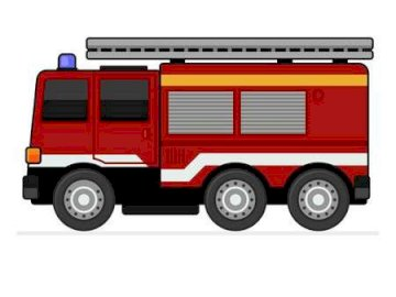 Fire truck - Arrange the fire engine puzzle. A close up of a truck.