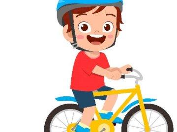 rowerek dla dzieci - puzzle dla dzieci z 12 elementów.