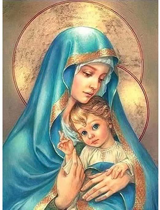 Η Μαρία με το μωρό Ιησούς - Η παρθένα Μαρία. Παναγία με το μωρό Ιησούς. Η Μαρία με το μωρό Ιησούς (4×4)