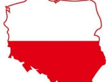 Carte de la Pologne - Organisez les puzzles montrant la carte de la Pologne. Un gros plan d'une carte.