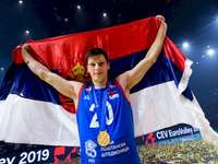 Srećko Lisinac - Srećko Lisinac - Serbia's volleyball representative. Srećko Lisinac posing for the camera.