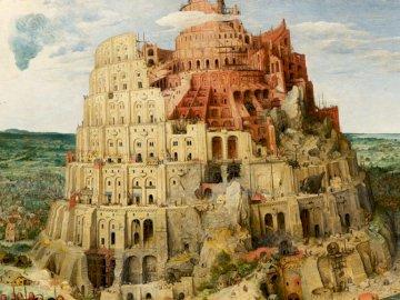 Torre di Babele - Gli edifici più alti del mondo. Torre di Babele. Una vista di un canyon.