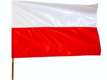 Flaga Polski - Flaga Polski dla Dzieci. Zbliżenie flagi.