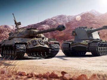 puzle world of tanks - to sąwdwa czołgi is7 i kranwagn.