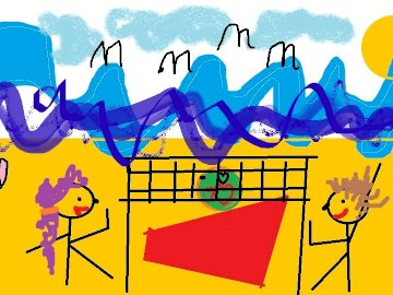 beach in Poland - the beach is beautiful the weather is beautiful the children are happy and the sea is humming.