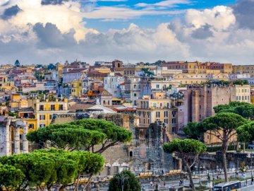 Panorama Rzymu - Rzym wieczne miasto -----------. Widok na miasto.