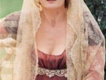 Pensive Telimena - Sad, pensive Telimena. A woman wearing a dress.