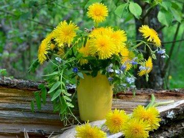 Λουλούδια σε ένα βάζο - Ένα μπουκέτο λουλούδια σε ένα βάζο. Ένα βάζο των λουλου
