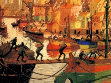 Quinquela Martín, Benito. Εργαζόμενοι- - Benito Quinquela Martín Αργεντίνος ζωγράφος. Απεικονίζει τη ζωή �