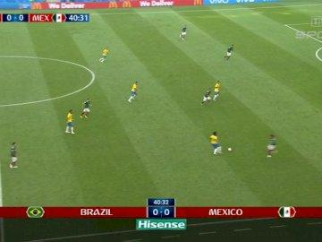 ROSIA 2018 FIFA WORLD CUP - MECZ MEKSYK-BRAZYLIA 2018 FIFA WORLD CUP. Zrzut ekranu z gry wideo.