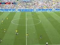 MECZ BRAZYLI 1-0 - MECZ FIFA WORLD CUP. KONTUZJA W BRAZYLI FAUL.  STADION SAMARA ROSIA 2018 FIFA WORLD CUP.  PIŁKA NO�