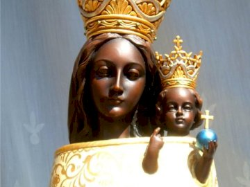 Our Lady of Loreto - Mother of God statue.