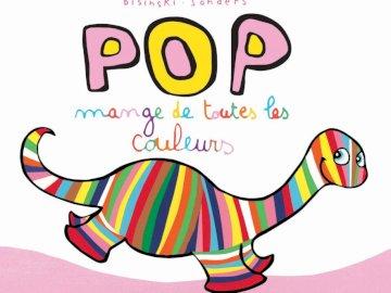 pop eats all colors - album cover: create the album cover. A close up of a logo.