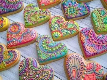 Baked with love - Netzfund FB - nice pictures.