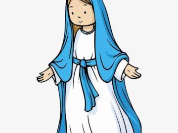 Maryja - puzzle dla dzieci - Ułóż puzzle, a poznasz niezwykła kobietę, wyjątkową Matkę.
