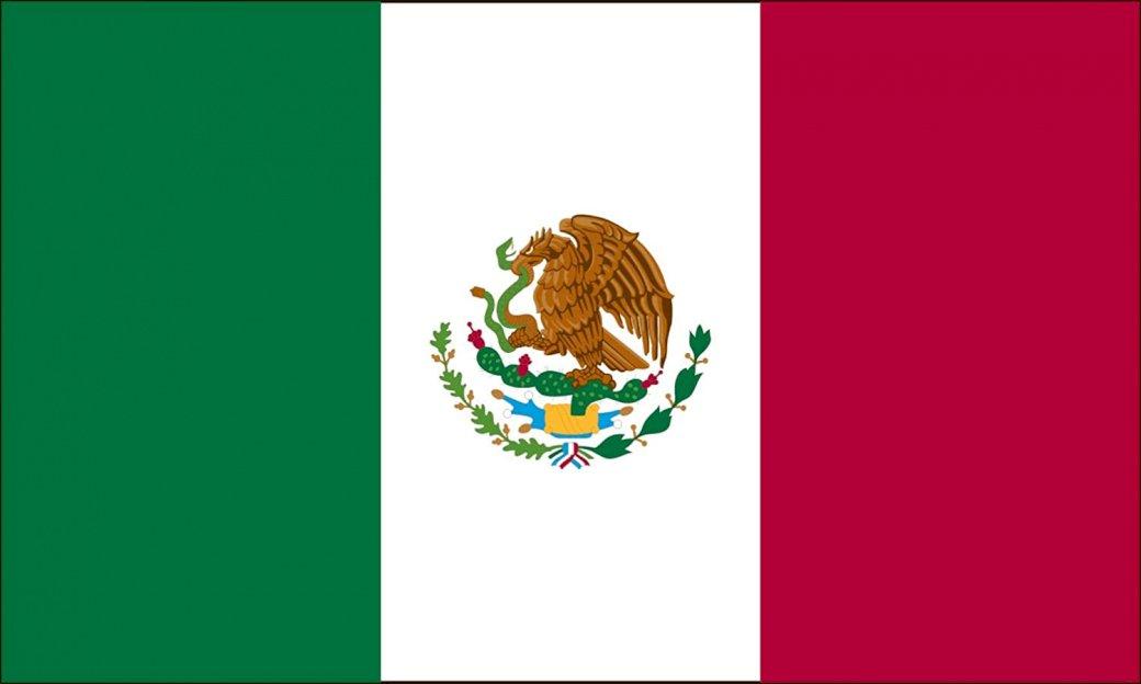 Bandeira do México - Bandeira do México. Construa a bandeira do México (3×3)
