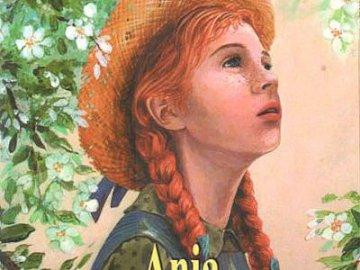 Ania de la colina de Zielona - Crea una portada de un libro a partir de rompecabezas dispersos.