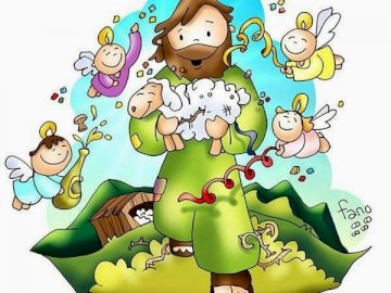 The lost sheep and Jesus - Parable of the lost sheep.