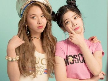 kimdahyun - dahyun and chaeyoung's puzzle of twice. A girl posing for a picture.