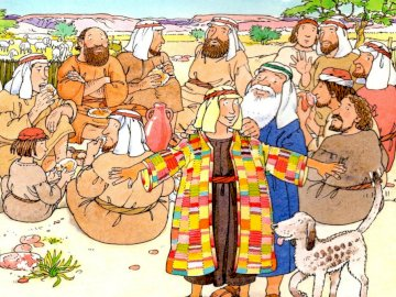 Giuseppe e i suoi fratelli - Giuseppe amato da Giacobbe e invidiato dai suoi fratelli.