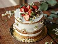 Φωτογραφία κέικ φραουλών