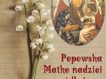 Popowska's Mother of Hope - Picture of the Mother of God, Mother of Hope from the Sanctuary in Popowo Kościelny. A close up of