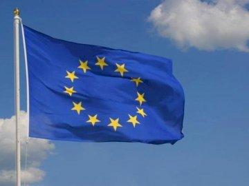 Σημαία της Ένωσης - Σημαία της Ευρωπαϊκής Ένωσης. Στενή σημαία επάνω.