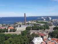 Město Tallinn v Estonsku