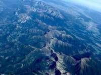 A légi felvétel a Tátra