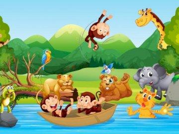 Jungle pour les enfants d'âge préscolaire - Animaux de la jungle.
