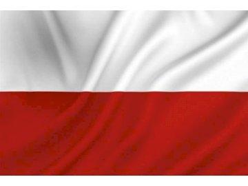 flaga polski - miła flaga polski miła odmiana. Zbliżenie flagi.