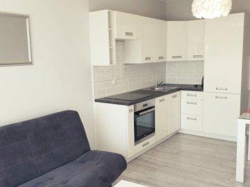 Salon de la parole - Une photo du salom d'un nouvel appartement. Un salon rempli de meubles et d'un poêl
