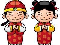 DESSIN DE CHINITOS - PROJET CHINE: PUZZLE DE 9 PIÈCES. Un dessin d'un personnage de dessin animé.
