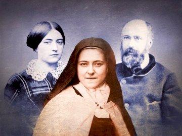 Święta Teresa od dzieciątka Jezus - Sprawdź czy jesteś bystrzakiem. Ułóż puzzle. Therese z Lisieux i in. pozuje do kamery.