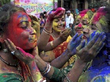Holi - Hindu Fest der Freude vom Frühling - Holi - hinduskie święto radości z wiosny
