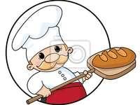 Много важна професия - Пъзел за професията на хлебар.
