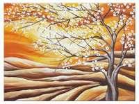 τοπίο με ένα ανθισμένο δέντρο